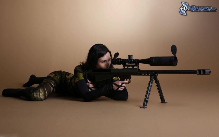 sniper, mujer
