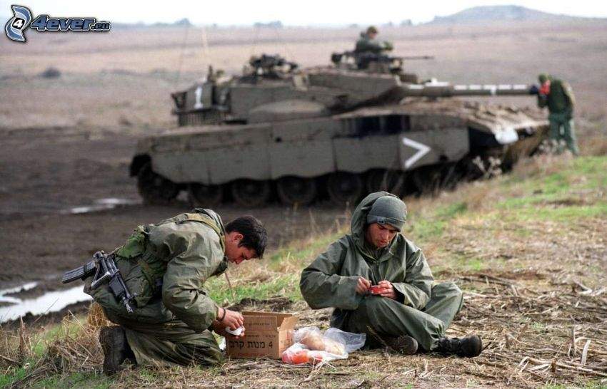 soldados, Merkava, tanque
