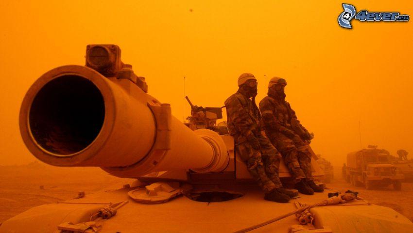 tanque, soldados