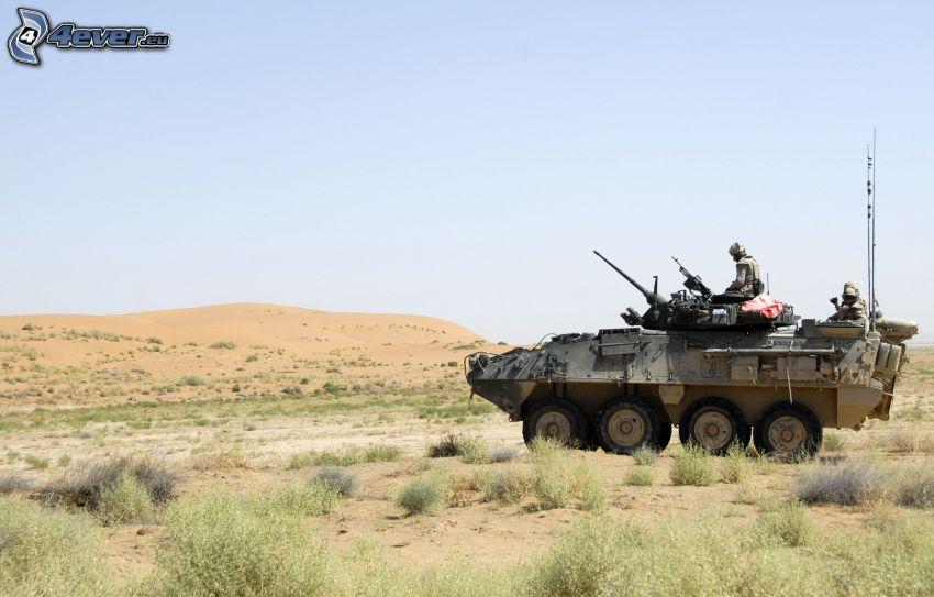 vehículo blindado, soldados, desierto, Afganistan