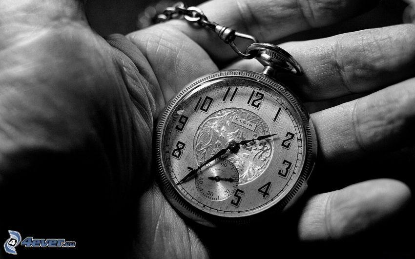 reloj histórico, mano