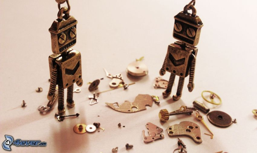 robots, componentes, colgantes