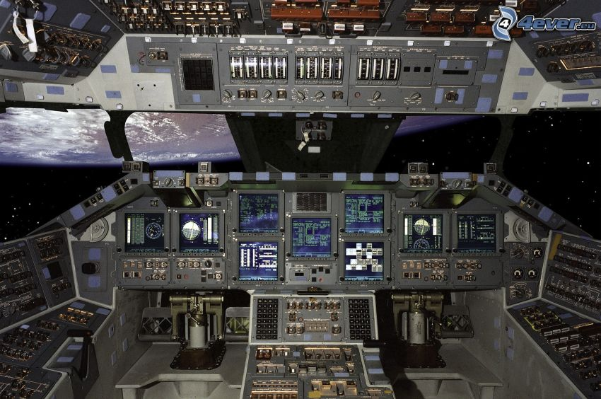 transbordador espacial, interior