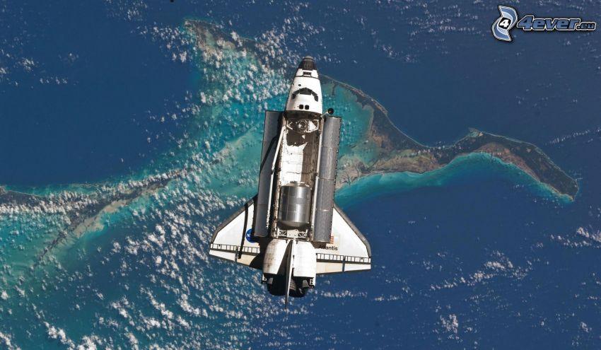 transbordador espacial Atlantis, transbordador en órbita