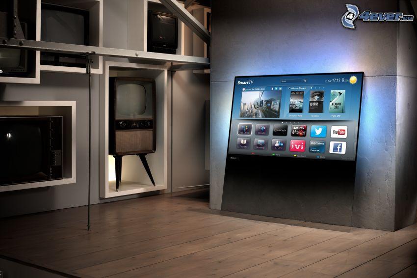 TV, electrónica