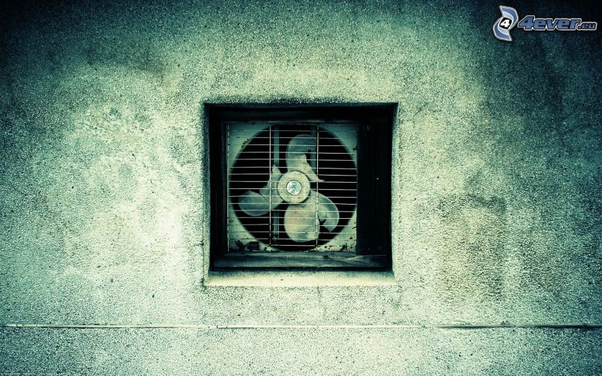 ventilador, pared