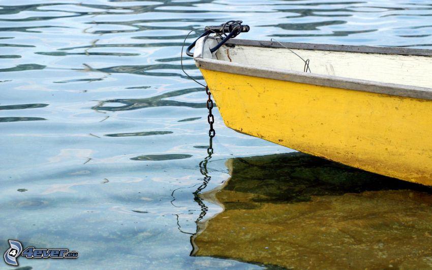barco, barco en el lago