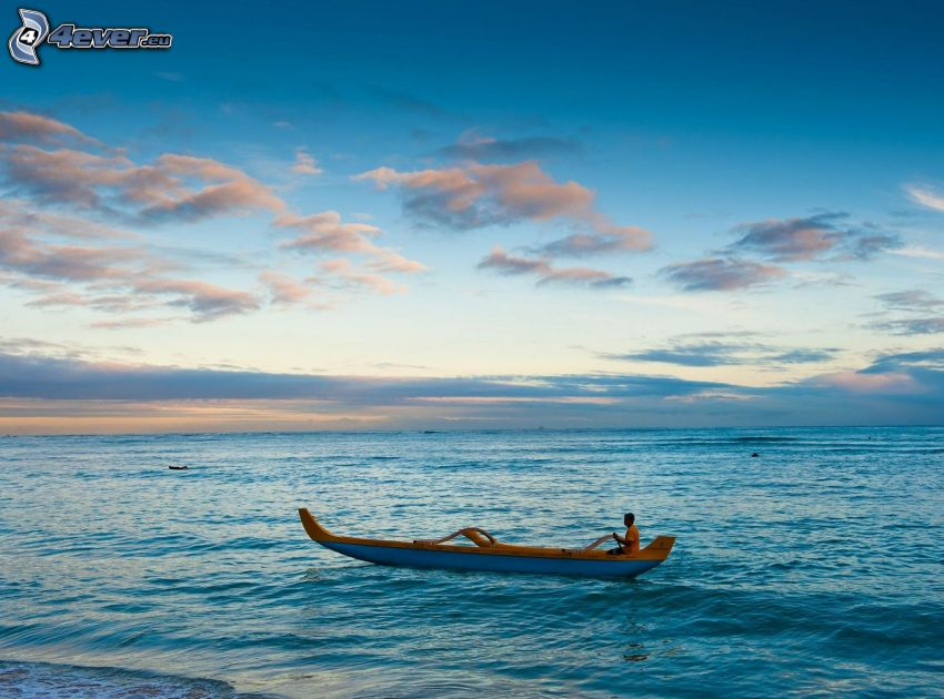 canoa, Alta Mar