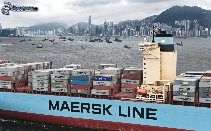 cargador, Maersk, Shanghái