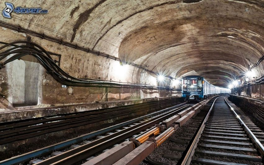 metro, túnel