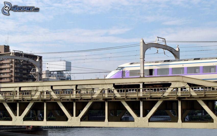 puente ferroviario, tren
