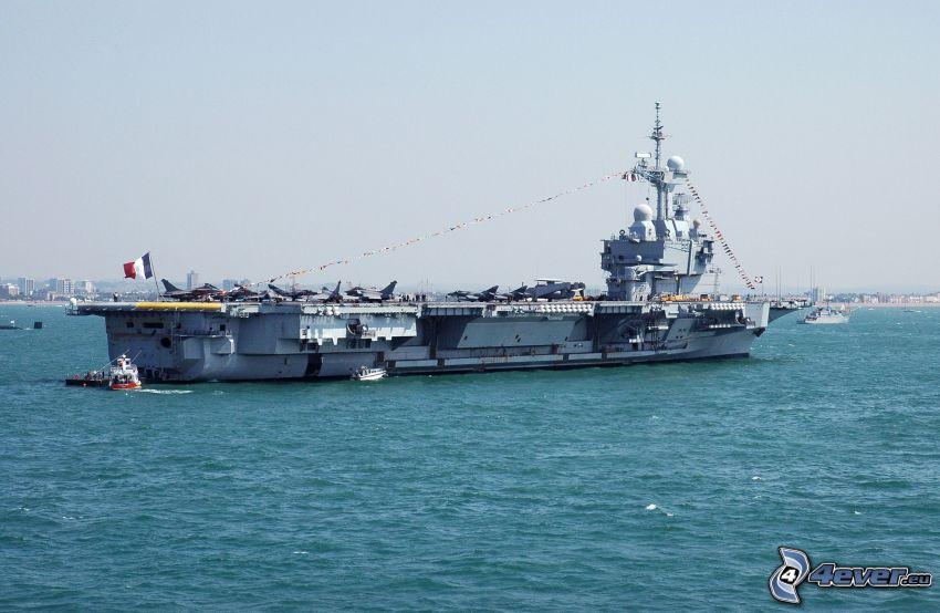 R91 Charles de Gaulle, portaaviones, mar