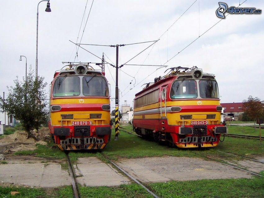 locomotoras, carril, ZSSK
