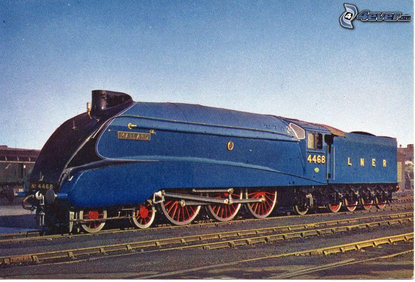 Mallard, locomotora de vapor, carril