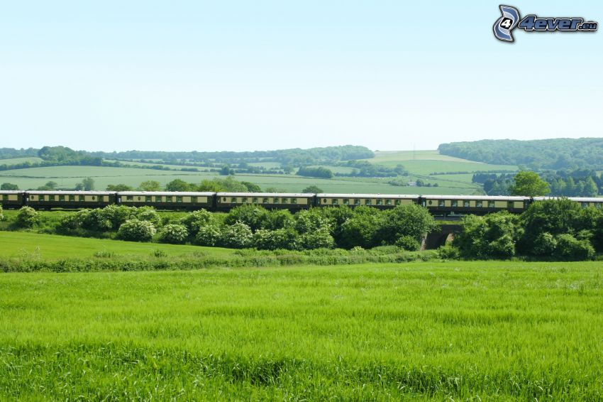 Orient Express, Pullman, Inglaterra, paisaje