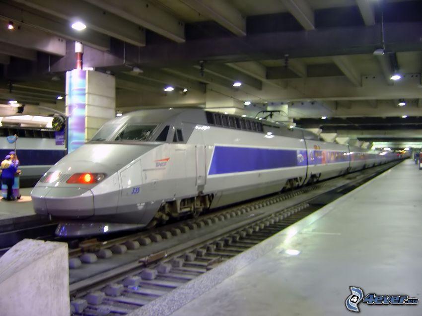 TGV, estación, andén