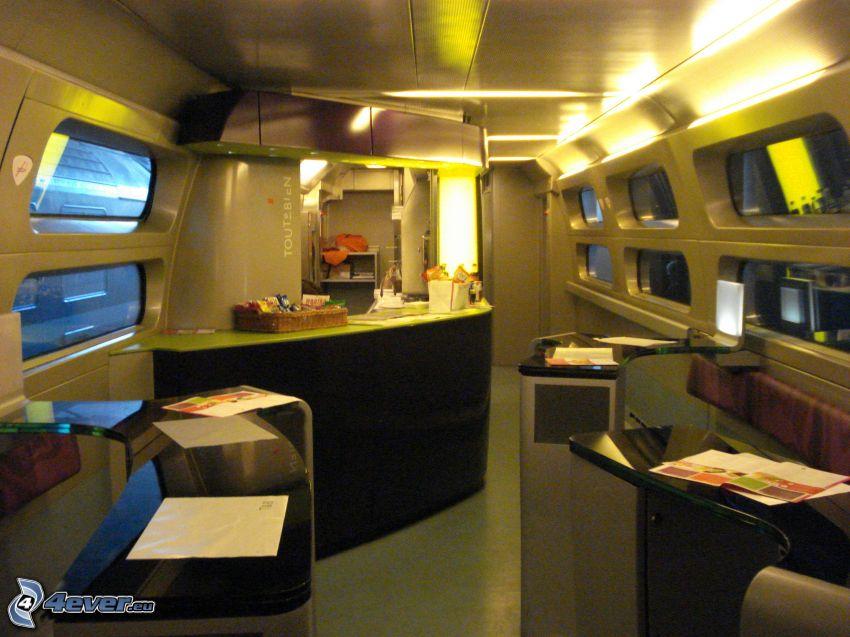 TGV, interior, bar