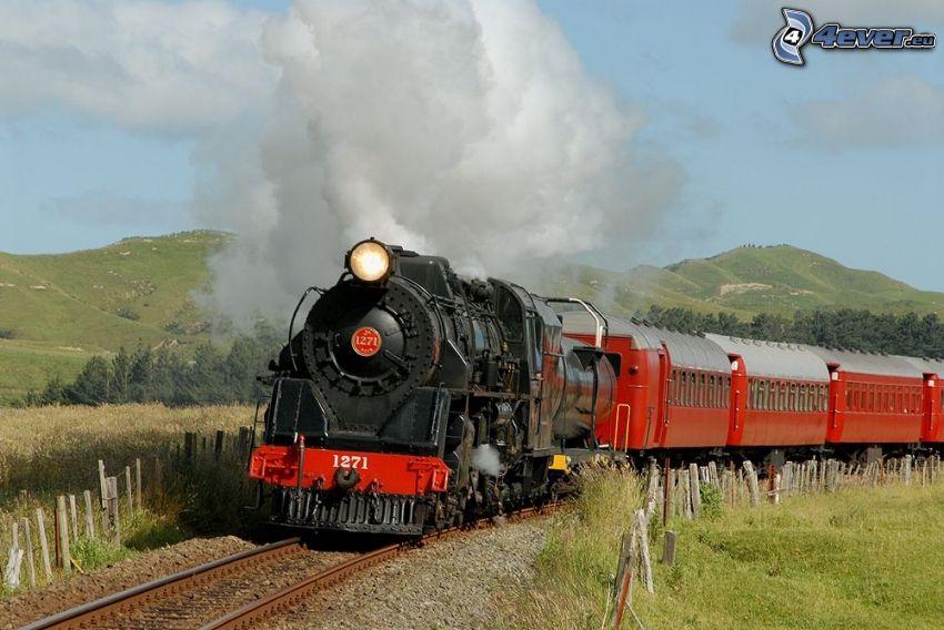 tren de vapor, locomotora de vapor