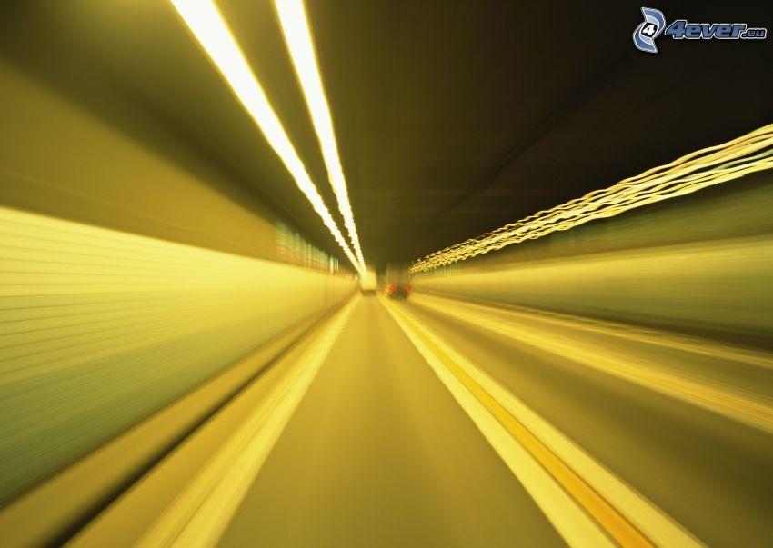 túnel, camiones