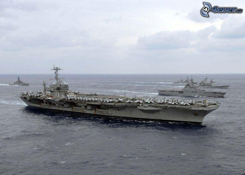 USS George Washington, portaaviones, Alta Mar