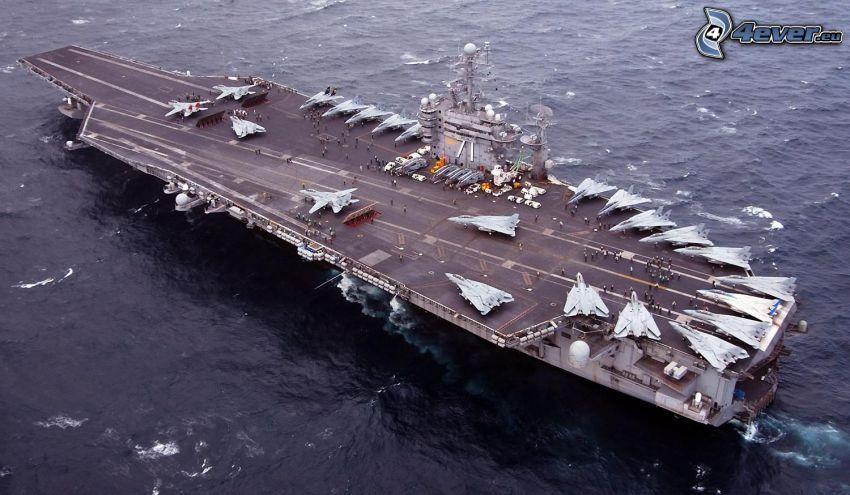 USS Nimitz, portaaviones, aviones de caza