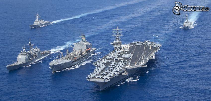 USS Nimitz, portaaviones, naves