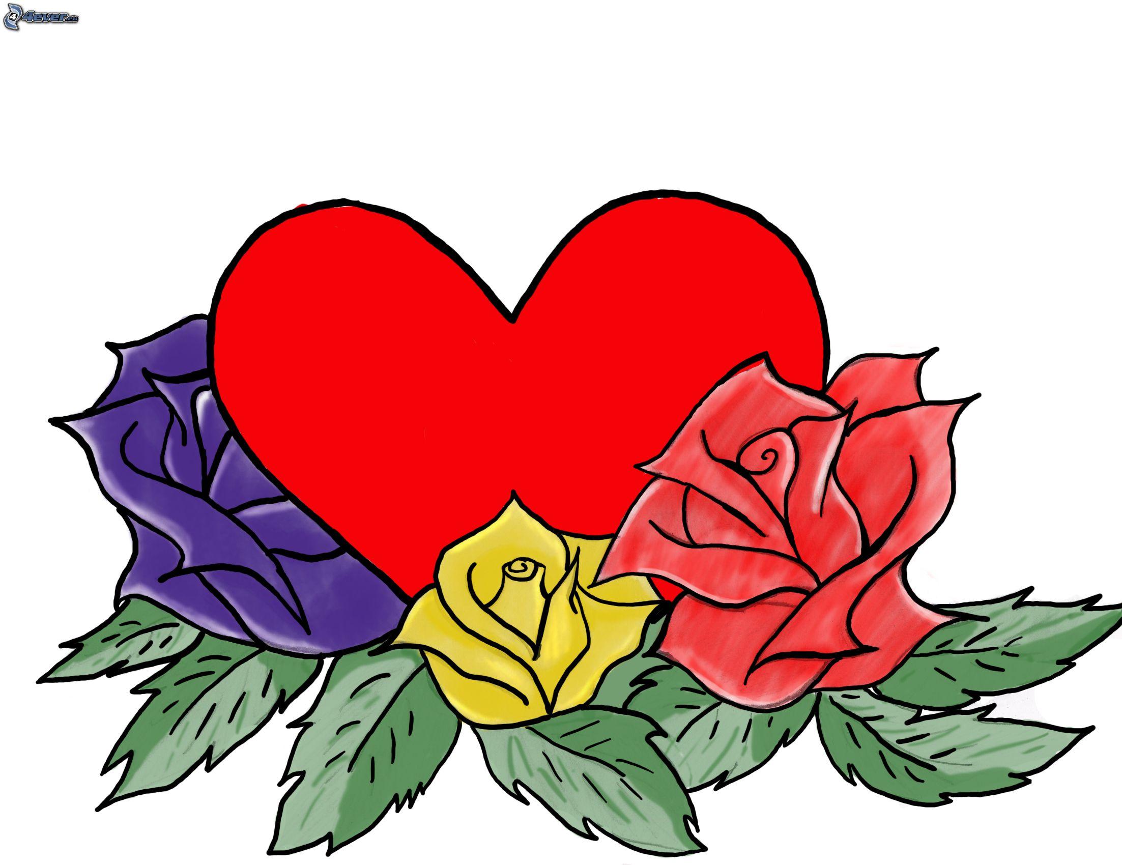 Dibujos animados de un corazón