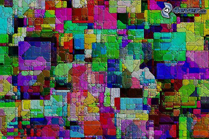 carrés colorés, couleurs