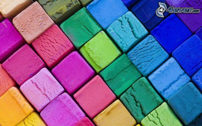 carrés colorés