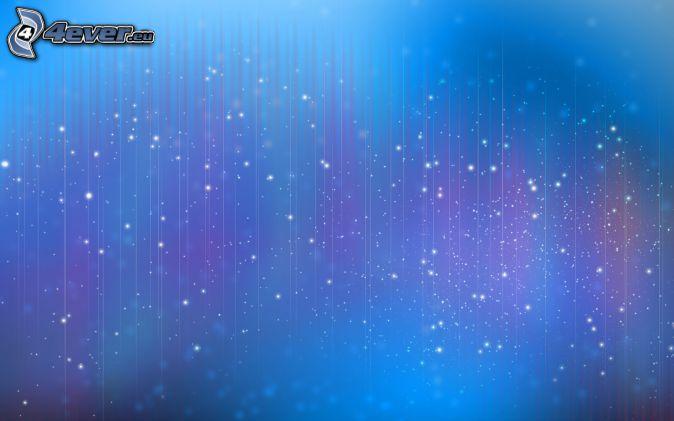 fond bleu, lignes blanches, anneaux
