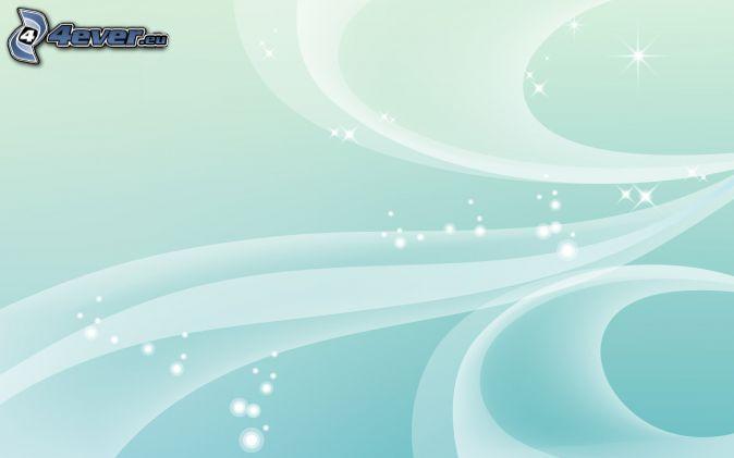 rayures blanches, fond bleu, anneaux