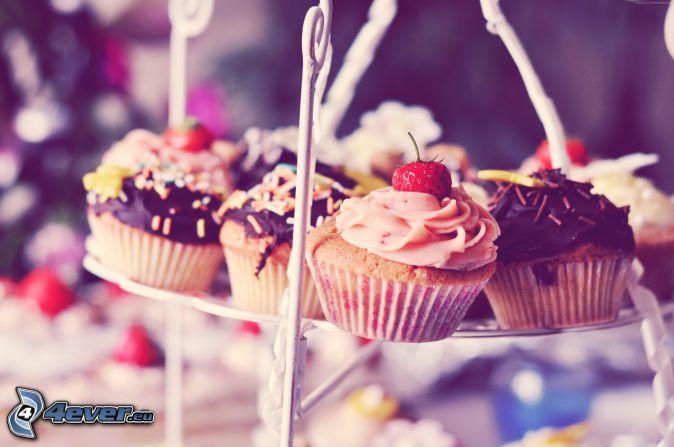 cupcakes, fraises
