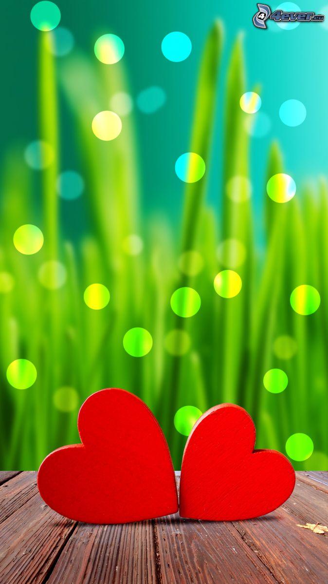 cœurs, brins d'herbe