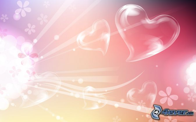 cœurs, fleurs, bandes