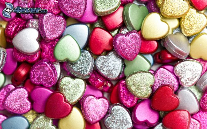 cœurs colorés
