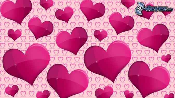 cœurs violets