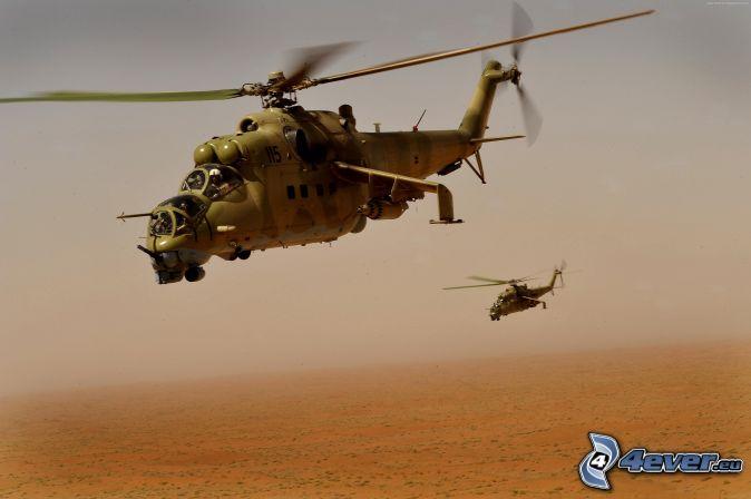 Mil Mi-24, Hélicoptère militaire