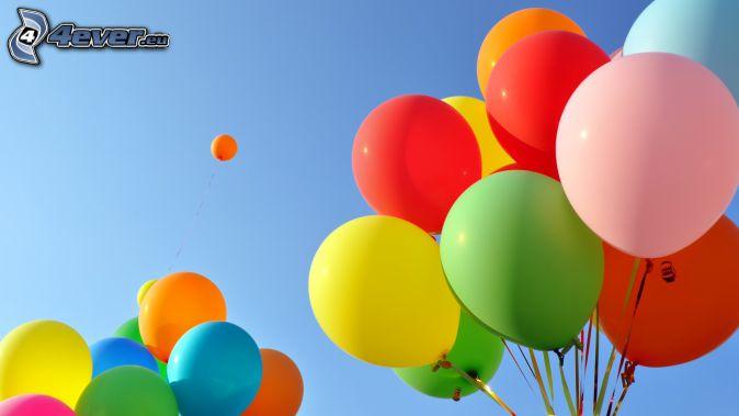 ballons, couleurs