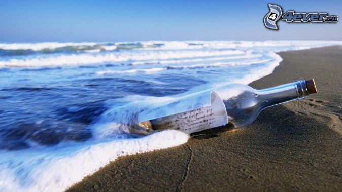 Au plaisir de vous lire ici - Page 6 Message-dans-une-bouteille,-bouteille-dans-la-mer,-vagues-sur-le-rivage-187712