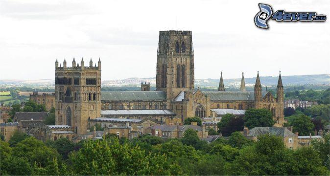 La cathédrale de Durham, arbres