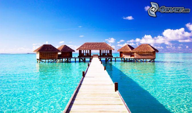Maldives - Maison sur pilotis maldives ...