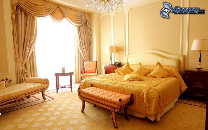 chambre à coucher , grand lit