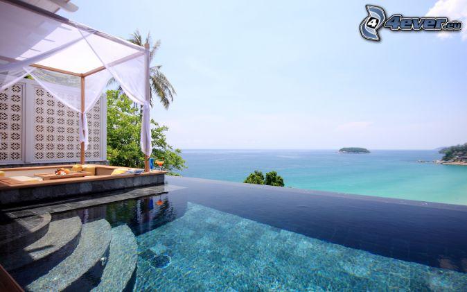 H tel de luxe for Pool bordure