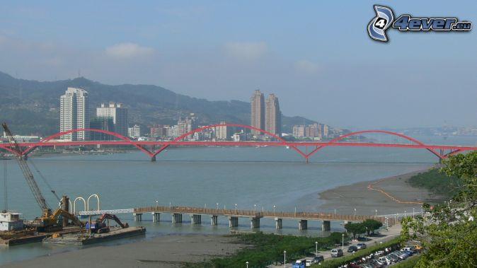 Guandu Bridge, gratte-ciel