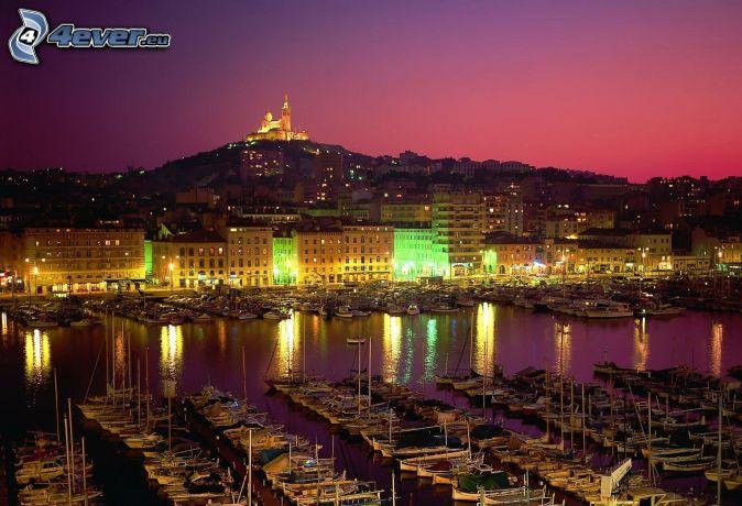 Ville de nuit - Coucher du soleil marseille ...