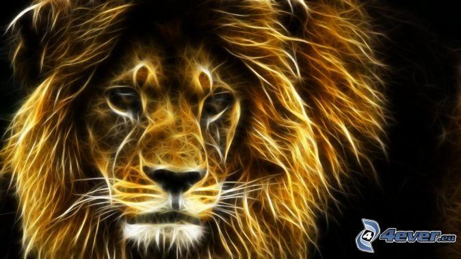 lion-fractal,-animaux-fractals-160597