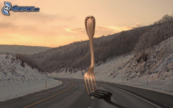 Route - Coucher du soleil rennes ...