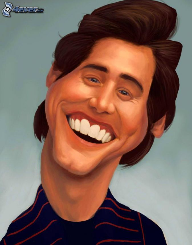 Jim carrey , caricature