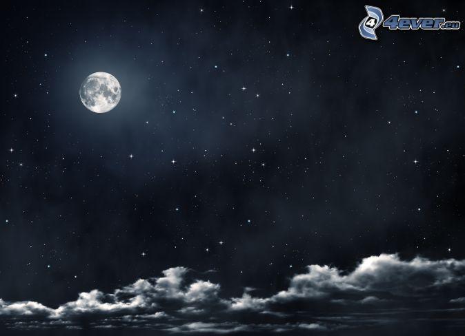 La Nuit Nuit,-lune,-nuages,-ciel-de-la-nuit-196071