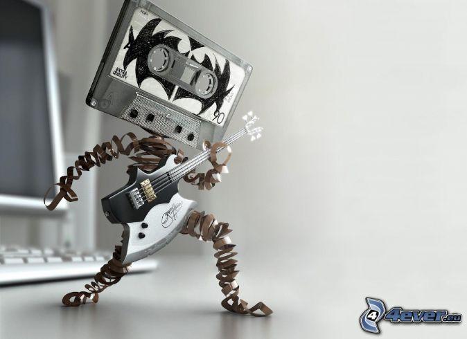 cassette, guitare électrique